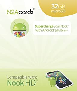 N2A (R) - 32GB Nook to Android 4.1.2 bootable microSD Card for the Nook HD