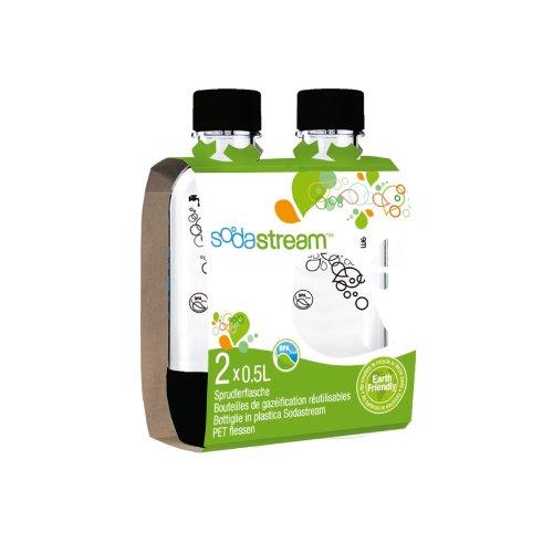 sodastream 1 2 liter carbonating bottle black 2 pack new free shipping ebay. Black Bedroom Furniture Sets. Home Design Ideas