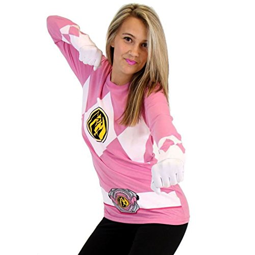 Power Rangers Pink Ranger Long Sleeve Costume T-Shirt