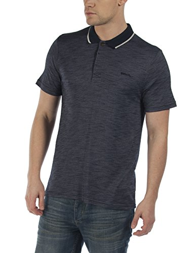 Bench SHADOWY-Polo Uomo    Blue (Dark Navy Blue) Small
