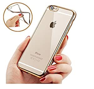 Apple iphone 6\6s Soft transparent back cover Gold