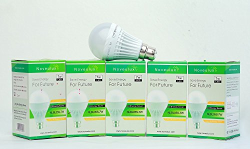 7W LED Bulb (Cool White, Pack of 5)