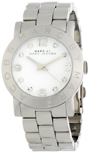 Marc by Marc Jacobs Women's MBM3054 Amy Midsize White Dial Watch