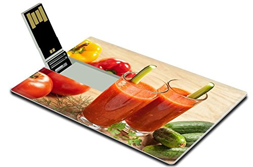 Liili 32GB USB Flash Drive 2.0 Memory Stick Credit Card Size Image ID 17721936 Healthy drink vegetable juice studio shot (California Cool Dill compare prices)