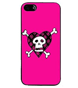 Printvisa Animated Pink Danger Sign Back Case Cover for Apple iPhone 4S