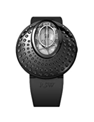 RSW Women's 7130.1.R1.5.00 Moonflower Black IP Stainless Steel Silver Discs Automatic Rubber Watch