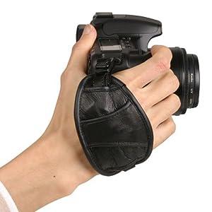 Kaavie - Dragonne / Poignée en cuir véritable pour appareil photo réflex (DSLR) - Grip-5 - pour Fuji Sony Nikon Canon