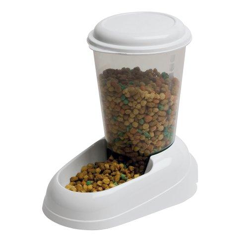 Ferplast Zenith Gatto e cibo per cani Dispenser, 29.2 x 20.2 x 28.8 cm, 3 litri, Bianco