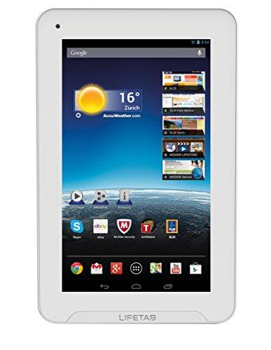 MEDION LIFETAB E7332 (MD 98966) 17,8 cm (7 Zoll) Tablet (ARM Cortex A9 Quad-Core-Prozessor, 1.60GHz, 1GB RAM, 16GB, GPS) weiss