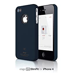 elago S4 Slim Fit Case for AT&T and Verizon iPhone 4/4S + HD Professional Extreme Clear film + Logo Protection Film included (Soft Feeling Jean Indigo)