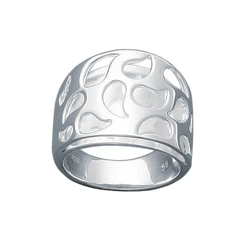 Ladies Sterling Silver Open Flame Fire Band Ring