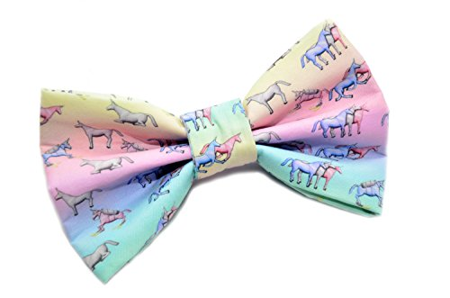 Charlie Unicorn Bow Tie with Adjustable Strap Adult Kid and Toddler Sizes Available (Quirky Ties compare prices)