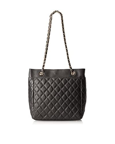 Zenith Women's Quilted Tote with Chain Strap, Black