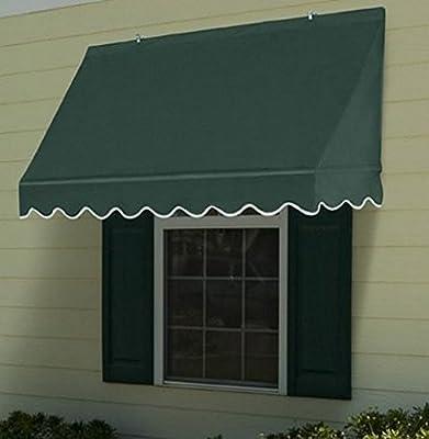 ALEKO Wind- und grün Markise Vordach Sonnendach Decorator Fenster - 1,2 m