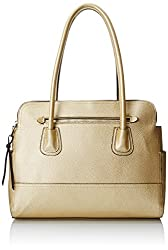 Emilie M. Gloria Double PU Shoulder Bag, Gold, One Size