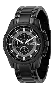 Fossil Men's CH2473 Black Stainless Steel Bracelet Black Analog Dial Chronograph Watch