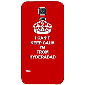 Skin4gadgets I CAN'T KEEP CALM I'm FROM HYDERABAD - Colour - Red Phone Skin for SAMSUNG GALAXY S5