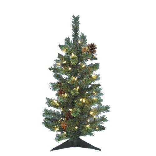 Kurt Adler Pre-Lit Montana Pine Tree, 24-Inch