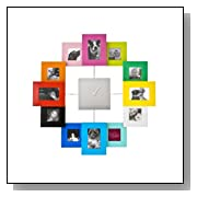 Multicolor Photo Frame Wall Clock