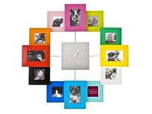 PT Photo Family Time Frame Clock, Coloured