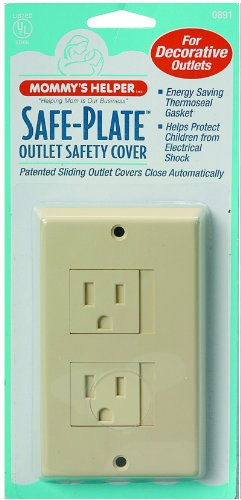 Mommy's Helper Safe Plate Electrical Outlet Cover, Almond, Decora, 1-Pack