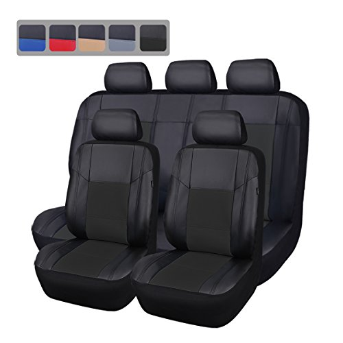 11 Piece Car Truck Seat Cover: CAR PASS PU CP-SC-0079 Leather Universal Seat Covers Set