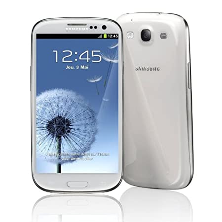 Samsung Galaxy SIII GT-i9300 Marble White 16 Go - Smartphone 3G+ avec écran tactile HD Super AMOLED 4.8`` sous Android 4.0