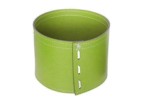 KOME 532: Set svuota tasche in cuoio rigenerato composto da 3 pezzi, colore Verde Oliva.