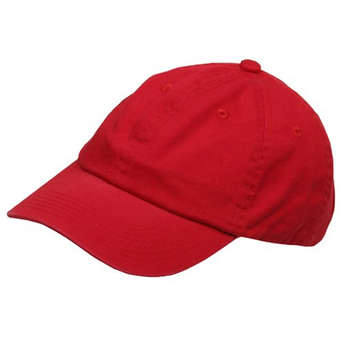 Youth Washed Chino Twill Cap-Red OSFM (Children Baseball Cap compare prices)
