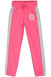 Poppers by Pantaloons Girl's Regular Fit Track Pant(205000005627492, Pink, 9-10 Years)