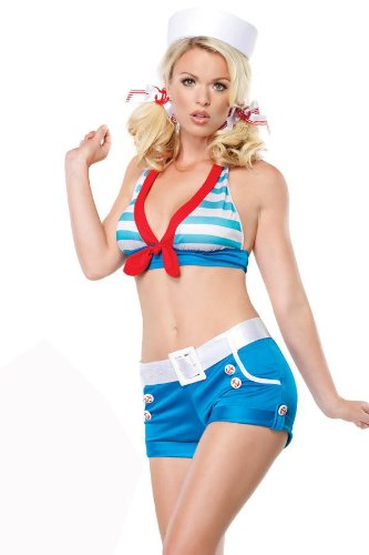 Leg Avenue – Sexy Sailor Pin Up Costume 4 pièces – 53087