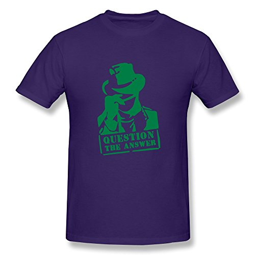 Question Answer Religion Short Sleeve Purple Tee Shirts For Teenagers Size Xs