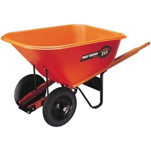 Ames True Temper BP10 10-Cubic-Foot Poly Tray Dual Wheel Contractor Wheelbarrow (Wheelbarrow Dual Wheel compare prices)