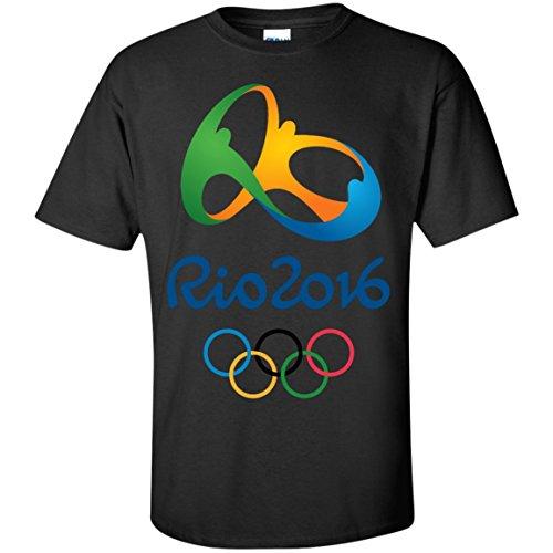 Rio 2016 Olympics T-Shirt - Black / XX-Large