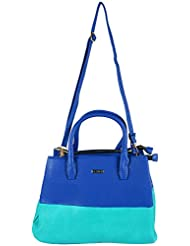 Bee - Trendy Women's Handbag Green And Blue - BT002_BG