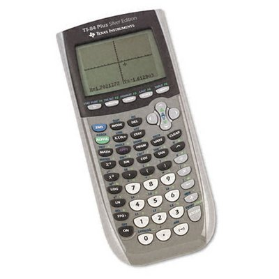 Texas Instruments TI-84 Plus Silver Edition Graphing Calculator, 10-Digit LCD