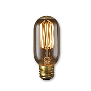Bulbrite NOS40T14/SQ 40-watt Nostalgic Incandescent Edison T14 with Vintage Thread Filament and Medium Base, Warm White, Pack of 1