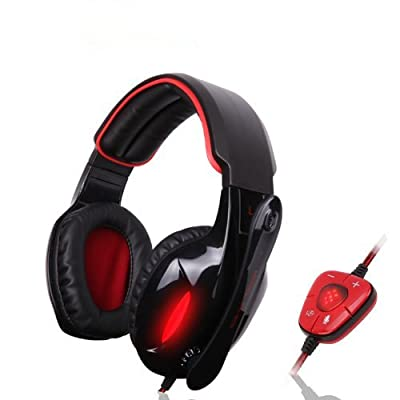 LingsFire® SA-902 7.1 Surround Sound Gaming Heaset Headphones with Mic and Remote for PC Laptop