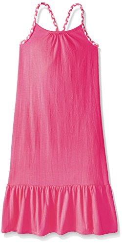 Pink House Girls' Maxi Dress with Self Braid Strap, Neon Hot Pink, Medium 5/6 (Hot Pink Maxi Dress compare prices)