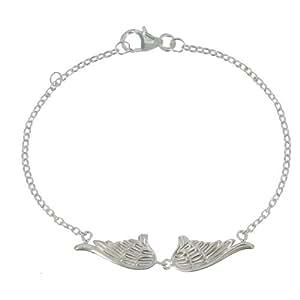 Bijoux Les Poulettes - Bracelet Deux Ailes d'Ange Argent 925
