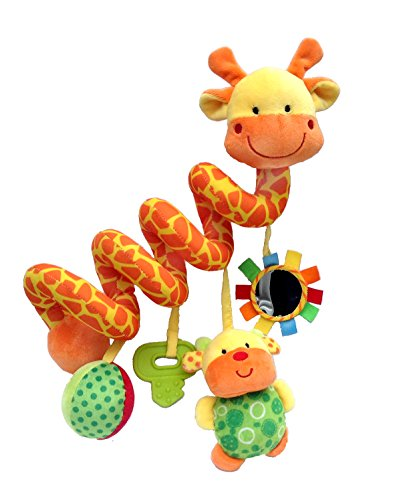Giraffe-Baby-Crib-Toy-From-Crib-Critters-Wrap-Around-Crib-Rail-or-Stroller-Toy-Toys-for-Babies-3-to-6-Months