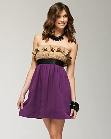 bebe Silky Ruffle Bodice Dress