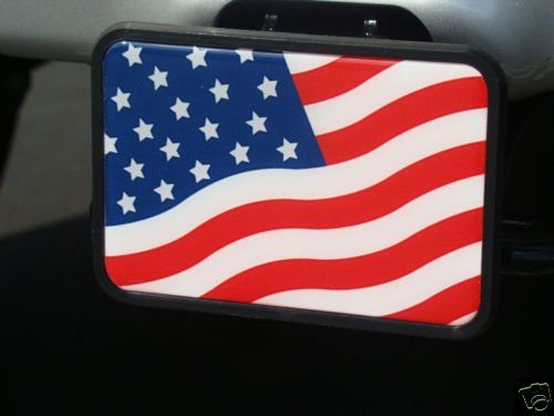 UNITED STATES AMERICAN FLAG TOW HITCH COVER (Temporary Trailer Hitch compare prices)
