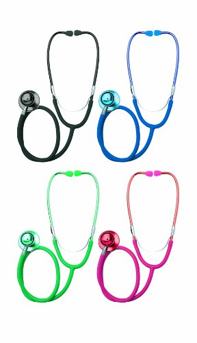 St John Ambulance Dual Head Stethoscope Red