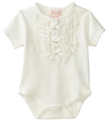 Biscotti Baby-Girls Newborn Victorian Rose Bodysuit, Ivory, Newborn