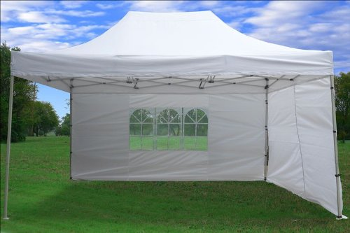 Outdoor Party Tent: 10x15 Pop Up 4 Wall Canopy Party Tent