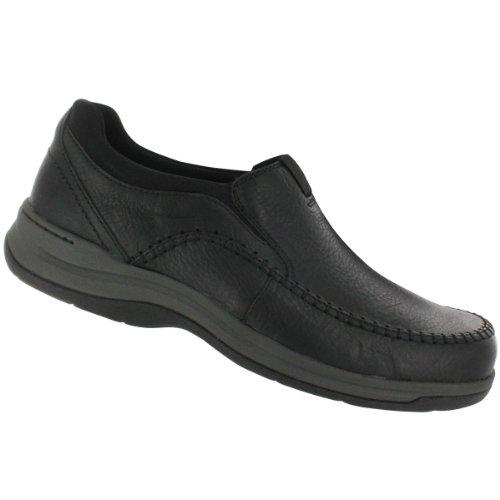 Clarks Men's Portland 2 Easy Slip-On,Black Leather,7 W US