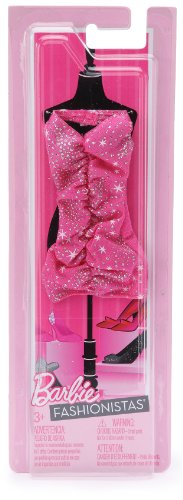 "Barbie Fashionistas ""Glitter & Glam"" Outfit - pink/silver, one size by Mattel"