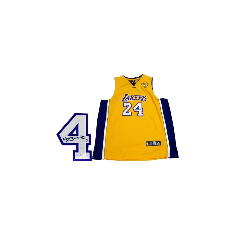 Kobe Bryant Autographed/Hand Signed 2010 NBA Finals Authentic Los Angeles Lakers Jersey (OAI)