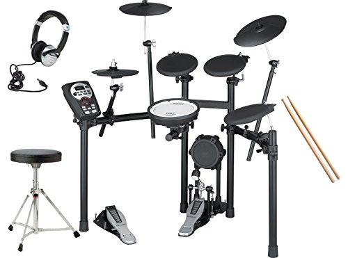 Roland-V-Drums-TD-11K-Electronic-Drum-Kit-With-Stool-Bass-Drum-Pedal-Sticks-Headphones